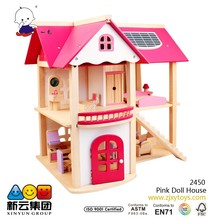 Pink Doll House Preten play wooden toys