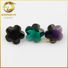 wholesale fancy flower shape decorative glass gems diamond
