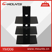 Three glass tv dvd wall mount,tv wall mount with dvd bracket
