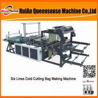 six lines cold cutting bag making machine(flat-opening)