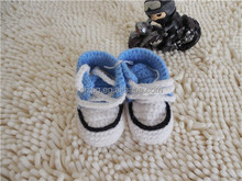 new born funny handmade cottom crochet baby shoes