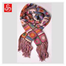 Ladies crochet hand knit scarf