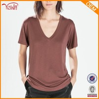 Wholesale Hot Sale In Mumbai 100% Combed Cotton Pre Wash Blank Plain V-Neck T Shirts