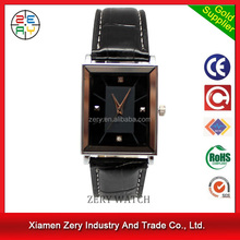 R0169 high quality leather strap watch sets for couples, japanese movement watch sets for couples