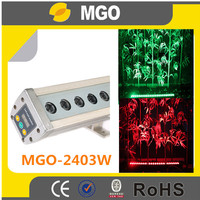outdoor lighting DMX512 rgbw 24x3w led wall washer light