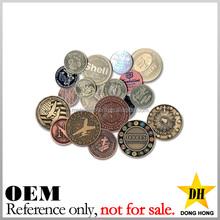 cheap gold plated souvenir coins blank custom brass metal tokens