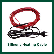 Silicone warming wire for plant in winter