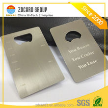 Customized Printing business card Stainless steel metal bottle opener