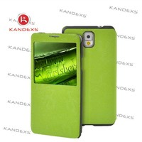 2015 fashion drab green PU leather To protect the case for Samsung phone