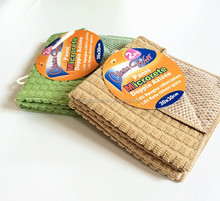small grid soft and comfort microfiber cleaning cloth and fabric high absorption