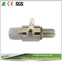 Gas Discharge Tube Lightning Arrester N Male to N Female DC-3GHz