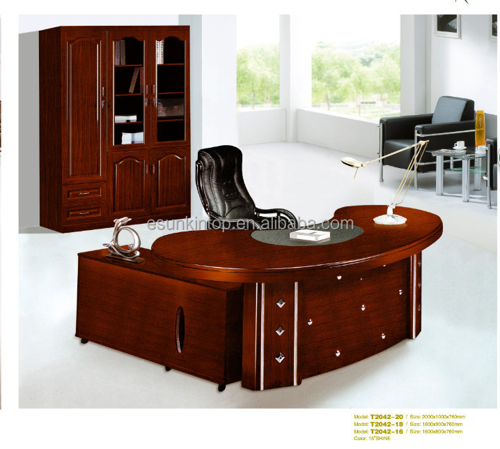 Ejecutivo de muebles de oficina de madera moderno borde - Escritorios de madera para oficina ...
