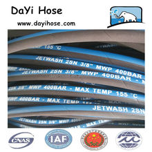 High pressure jet washer hose for cleaning machine or car wash hydraulic lift parts