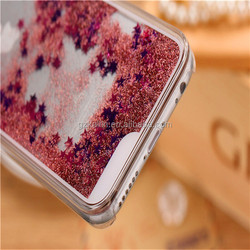 Clear Transparent Moving Glitter Flowing Liquid Star Case for iPhone 5