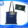 Promotional Foldable Shopping Bag With Zipper Closure