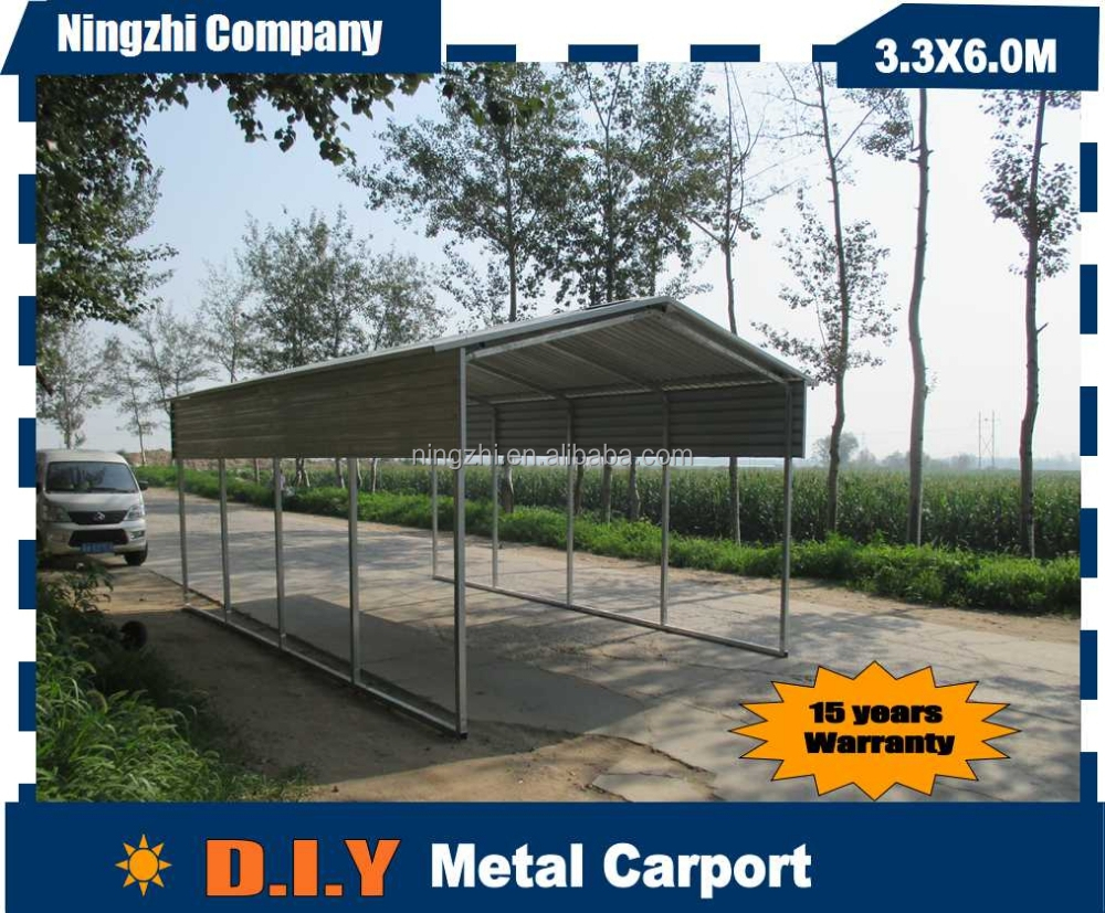 Metal steel frame carport car shed 3 car metal garage kits