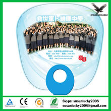 Promotional O ring Handle PP Fan (directly from factory)