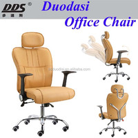 nice design modern recliner swivel synthetic leather chair with rotated armrest sleeping brown leather office chair B488