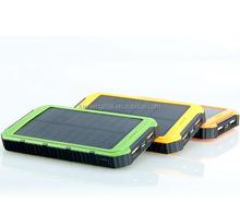 waterproof mobile solar charger power bank 12000 mah/10000mah