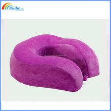 memory foam wholesale travel pillow, custom travel pillow in purple