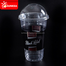 Cusom printed disposable plastic cup with dome lid