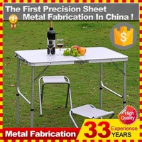 Wholesale Camping Suitcase Metal Folding Picnic Table and Bench Chair Sets
