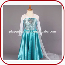2015 frozen princesa elsa traje de cosplay disfraz para las niñas PGFC-2873