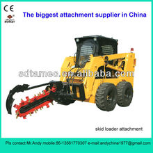 skid steer loader trencher (skid loader attachment,bobcat attachment)