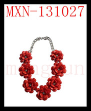 Europe and the United States small red rose flowers hotsale necklace