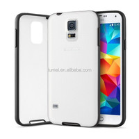 Transparent Back Hybrid Bumper Mobile Phone Cover Case For Samsung Galaxy S5