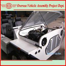 white color gas fuel driven small wheel Mokes