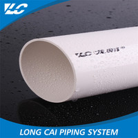 Low flow resistance lower PN2.5 large diameter pvc pipe prices, smoothly 9 inch pvc pipe