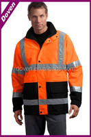 Reflective stripes security work jackets