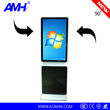47 inch floor standing lcd advertising player support 90 degree rotation