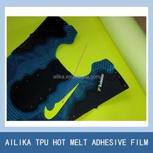 colorful tpu hot melt film for shoe upper laminating shoe materials