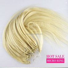 fashion white European micro ring hair extensions micro loop ring remy hair extension