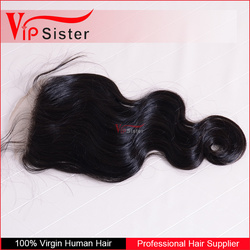 can be dye and iron 4x4 body wave silk closure brazilian with free part