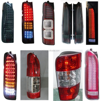 Rolie Auto parts supply all type of 1993-2015 original modification black red yellow toyota hiace led crystal tail lights