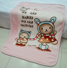 Super soft new born baby mink blanket in different colors