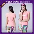 atacado pink fitness yoga regata moda feminina roupas de ginástica