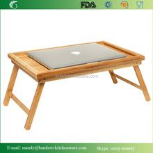 Luxurious Breakfast in Bed Bamboo Lap Tray / Laptop Desk / Kids Floor Table with Folding Legs