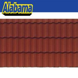 Easy to be folded easy to cut interlocked terracotta metal roof tile, double roman black/brown/red roof tile