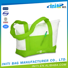 Waterproof eco-friendly portable factory supply eco shopper cotton bag