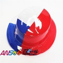 Cheap plastic party hat of Chile flag