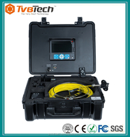 Pipe/Drain/Duct Cleaning Video Snake Pipe And Wall Inspection Color Camera System