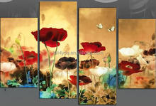 Colorful flowers landscape decorative group oil painting on canvas 48279