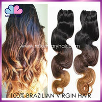14 inch ombre hair extension 3 tone brazilian hair extension