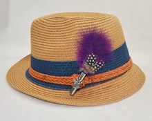 Feather brooch/hair/hat/bag pin