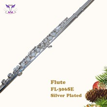 High quality 16 closed hole silver plated flute