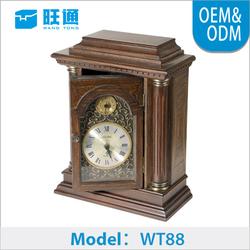 Antique wooden for art decor furniture antique table clock